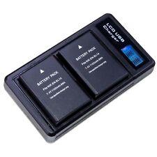 2x Akku + Dual Ladegerät für Nikon D5600 D5500 D5300 D5200 D5100 EN-EL14 1100mAh