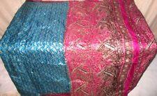 Aqua Rani Pure Silk 4 yard Vintage Sari GIFT Retailer Design picture .com #A134O