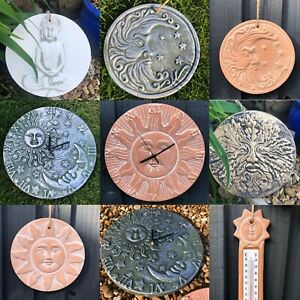 Terracotta Sun | Moon | Buddha | Man Tree Wall Plaque | Clock | Thermometer