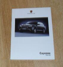 Porsche Cayenne Price List & Specification Guide 2005 - 3.2 4.5 S Turbo