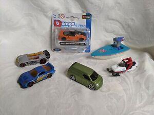 Toy Vehicle Bundle - Hot Wheels Burago Motor Max 2012 Olympics car boat snowmobi