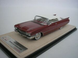 Cadillac Series 62 Cabriolet 1960 Red Closed 1/43 GLM Stamp STM60302