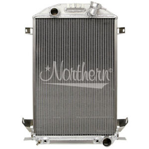 Northern 205176 Custom Hotrod Aluminum Downflow Radiator 32 Ford Lowboy Roadster