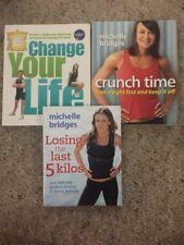 2x Michelle Bridges Books Crunch Time & Losing The Last 5 + Biggest Loser Book