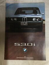 1976 530i BMW Sales Brochure Original Foldout