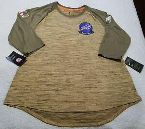 Womens Nike NFL Buffalo Bills Salute To Service Raglan Shirt AT5943-297 NWT