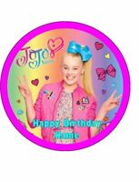 JOJO SIWA Edible Wafer Paper Birthday Cake Decoration & 12 Cupcake Toppers