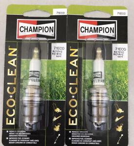 2 PACK Champion ECO CLEAN Spark Plug 71ECO or RC12YC / RC14YC / 71EZ / 5071