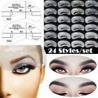 88-Gram - 24 Eyebrow Shaping Stencils Kit Brow Makeup Set Grooming Template Reusable