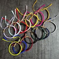 Women Men Vintage Tibetan Buddhist Love Lucky Bangles Knot Rope Bracelet Jewelry