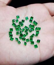 Charming 50 Pcs Square Shape Natural Zambia Emerald 6.90 Ct  Gemstone