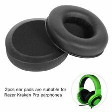 2Pcs Replace Ear Cushions Pads Soft Leather for Razer Kraken Pro Headphones