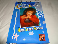 VINTAGE MUSIC CD PROMO POSTER GLORIA ESTEFAN MIAMI SOUND MACHINE 1987 LET LOOSE