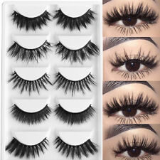5 Pairs Mixed 3D Soft Mink Hair False Eyelashes Thick Free Worldwide Shipping