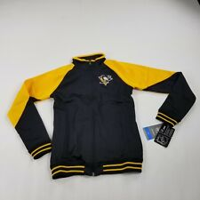 Pittsburgh Penguins Hockey Girls Large 14 Youth Track Jacket NHL Black Zip ffam
