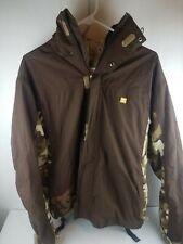 DC Snowboard Jacket Exotex 5000 Brown Camo Excellent Condition Men's Size S
