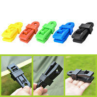 Plastic Outdoor Camping Large Tent Clips 10pcs Canopy Awning Wind Rope Clamps