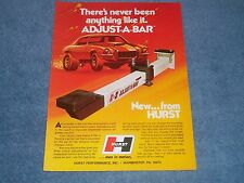 """1973 Hurst Adjust-A-Bar Traction Bars Vintage Ad """"There's Never Been Anything..."""