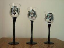 :Partylite Forbidden Crystal Trio Votive Candle Holders NIB