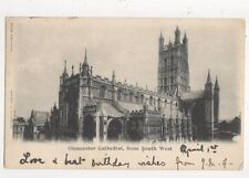 Gloucester Cathedral From South West 1902 U/B Postcard 599a