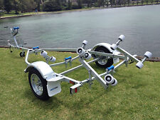 AL4.2M13R Boat Trailer, Galvanised, Rollers, (Suits Boats up to 4.2m)