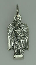 LOOK Sterling Silver Archangel St Uriel pendant charm Saint Medal Protection Jew