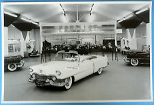 """1954 Cadillac Series 62 Convertible Top Down 12 X 18"""" Black & White Picture"""
