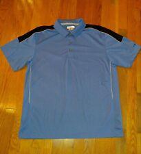 Mens golf shirt Size L Grand Slam S/S Blue 360 Motion Flow