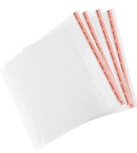 Garments Packing Clear Cellophane Bags With Self Seal Adhesive Tape GIFT, CARD