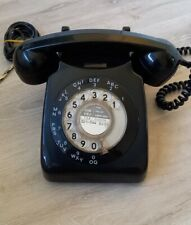 Vintage 1960s  Black Rotary Dial Telephone 746L/AEG68/1 Retro Home Phone