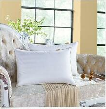 Luxury Goose Down Pillow Queen Size Soft Support,100%Cotton Cover White Set of 2