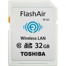 Toshiba 32 GB 32gb FlashAir WiFi SD Memory Card Class 10 SDHC W-03