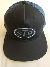 New STP Motor Oil Additives Embroidered Patch Trucker Hat Cap Tires Racing
