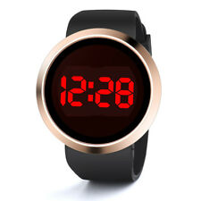 Fashion Waterproof Men's LED Touch Screen Day Date Silicone Wrist Watch Black K