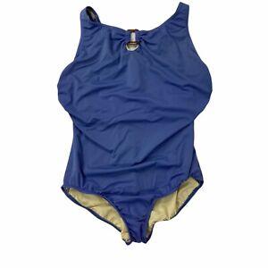 Land's End Women's Bathing Suit Size 18W Blue Ceil BLue One Piece Underwire