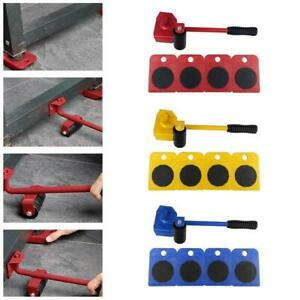 5pcs Furniture Lifter Heavy Furniture Transport Roller Tools Move Removal Set