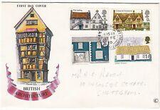 LETTRE FDC ROYAUME UNI SERIE TIMBRE 582 A 585 ARCHITECTURE RURALE  1970
