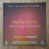 Paul Mccartney Promo Poster From A Lover To A Friend Ultra Rare