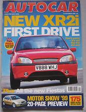 AUTOCAR 13/10/1999 featuring Pagani Zonda C12, Toyota Celica, Ford, Vauxhall