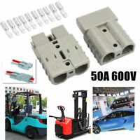 5X Hochstrom Stecker 50A 600V 8AWG Batteries Verbinder Winde Anhänger LK VWT