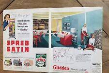 1952 Gladden satin spread paint living room home decor design ad