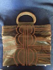 Purse R Y AUGOUSTI Brown Leather & Stingray Tote Bag Paris