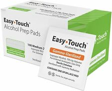 2 Box of 100 ALCOHOL PREPS PADS SWABS WIPES 200 NEW STERILE BEST PRICE