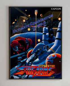 Hyper Dyne Side Arms 1986 Arcade Video Game Retro Print Poster 18 x 24 inches