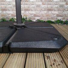 More details for 16kg plastic garden parasol base section for cantilever parasols in black