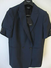 Paul Smith Jacket Air Force Blue Woven Mohair & Wool Size Eu42 Uk12
