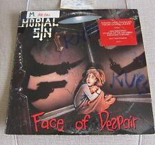 MORTAL SIN Vinyl LP- Face of Despair 1989 RARE THRASH METAL-Promo Radio Copy