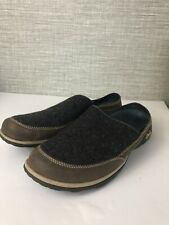 Chaco Quinn Wool Leather Slip On Mules Shoes J105348 Charcoal Women's Sz 9.5
