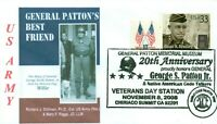 General GEORGE PATTON Famous WW II Army General & Dog, Photo Cachet Pictorial PM