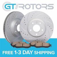 Front Brake Disc Rotors & Ceramic Pads for Ford Mustang GT 05-10 V6 11-14
